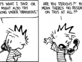 Calvin and girls